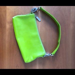 Hobo International Lime Green Wristlet Clutch